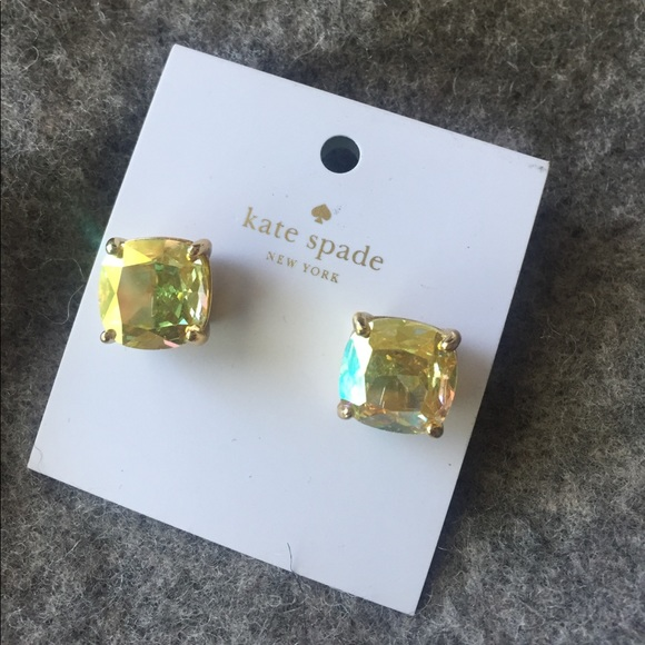 3f357cbcf26f6 Kate spade yellow Square Crystal Stud Earrings